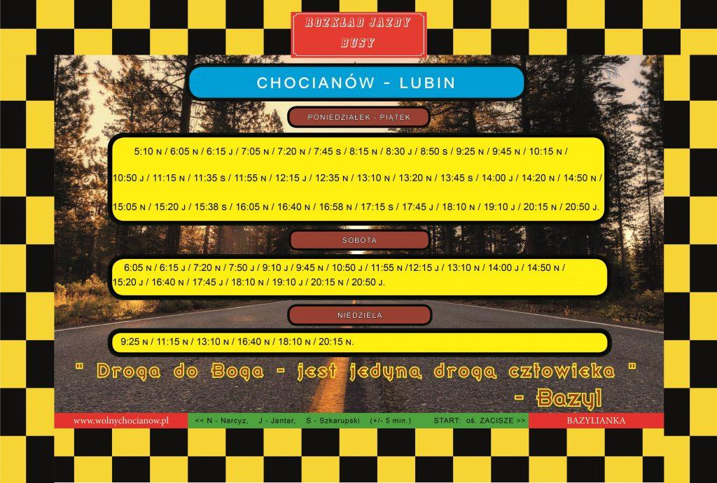 Rozkład Jazdy Busów Chocianów - Lubin