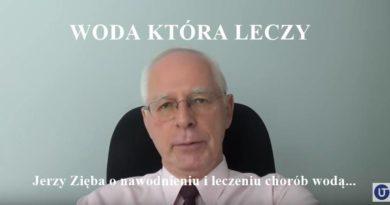 Jerzy Zięba i woda