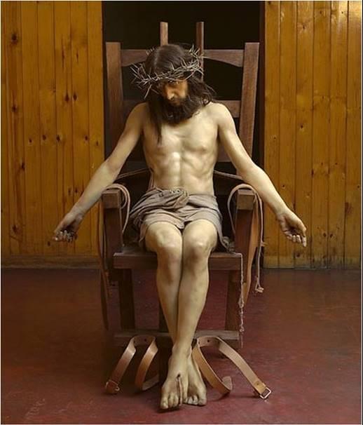 Jezus na krześle śmierci