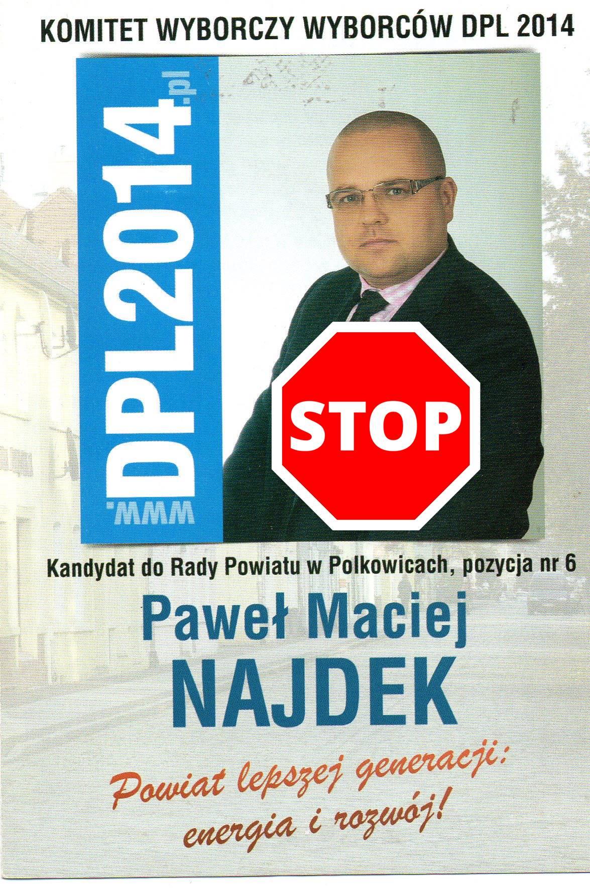 Stop Paweł Najdek
